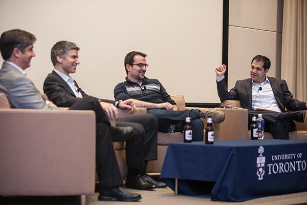 From left: Panellists Alex Grbic, Rami Rahim, Yuri Sagalov and moderator Arshia Tabrizi.