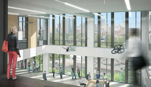Rendering of the new CEIE atrium