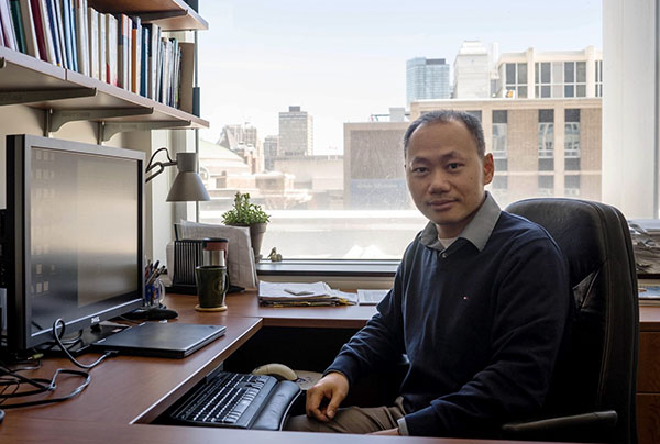 Professor Ben Liang in his office