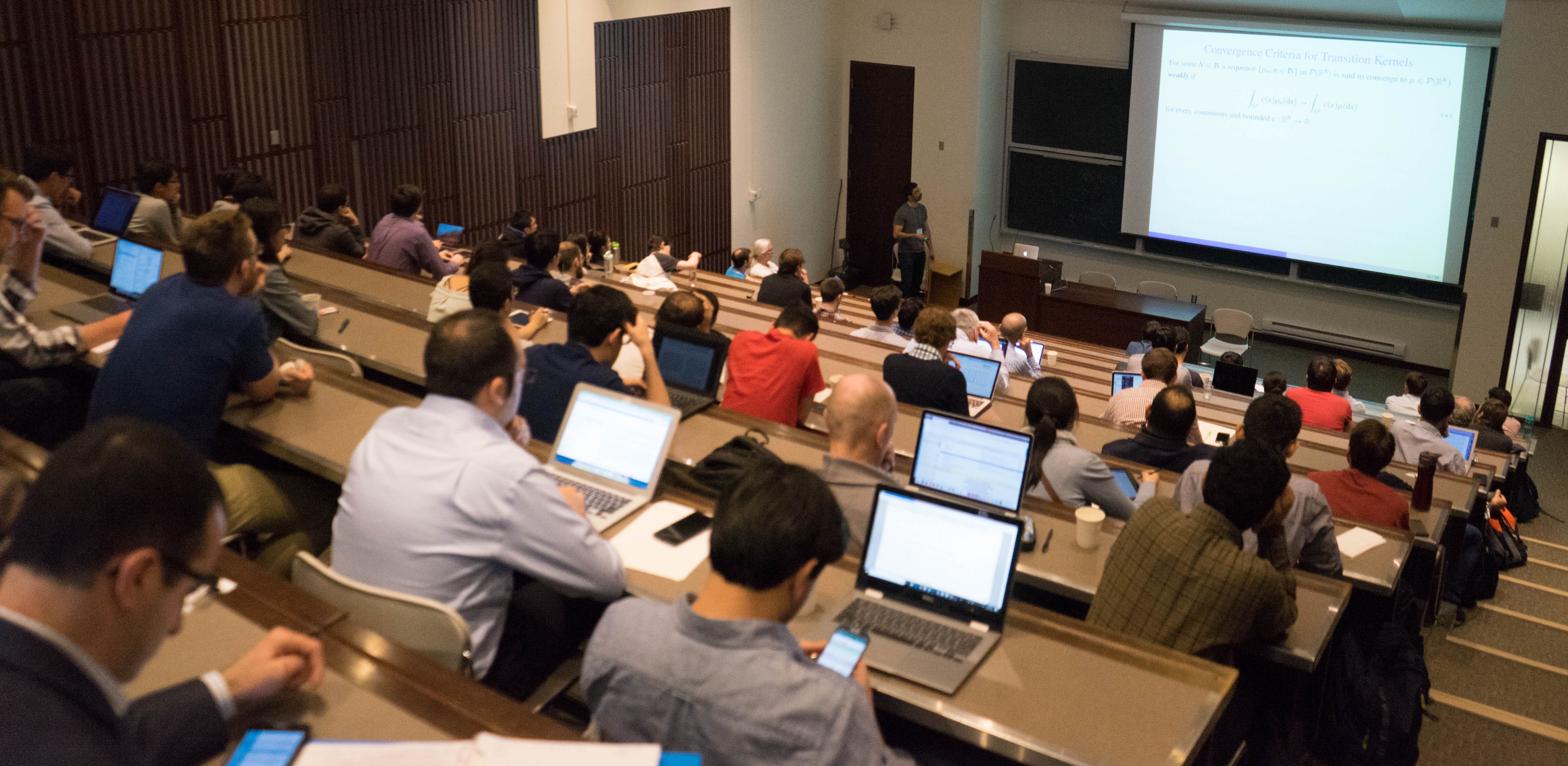 Participants hear one of more than 20 talks at the 8th Meeting on Systems and Control Theory