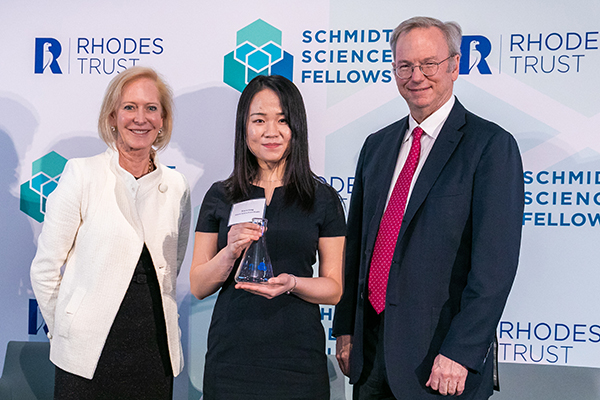 Xiwen Gong with Wendy and Eric Schmidt.