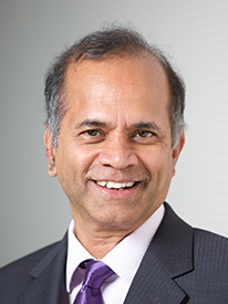Rama Chellappa headshot in purple tie